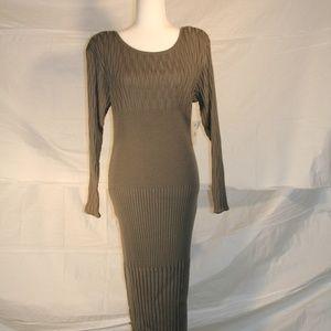 Carole Little Bamboo Knit dress, NWT, large